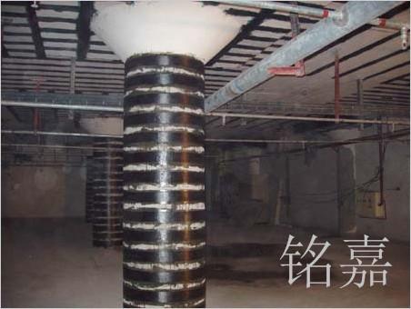 柱粘贴碳布工程